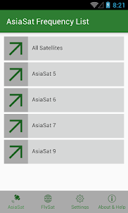 AsiaSat Frequency List - náhled