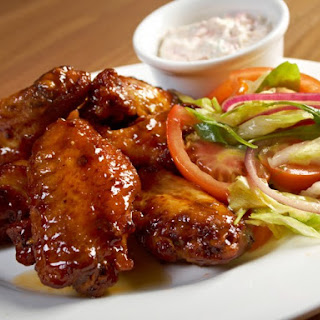 Slow Cooker Spicy Honey Barbecue Chicken Wings.