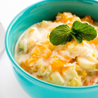 Tropical Fruit Salad with Vanilla Greek Yogurt Recipe