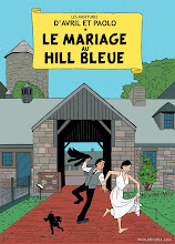 Photo: LE MARIAGE AU HILL BLEUE (SAVE THE DATE). 2012. Ink on bristol board with digital color, 11 × 17″.