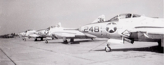 Photo: F9's on the line Oct. '62  submitted by Darrell Vognild