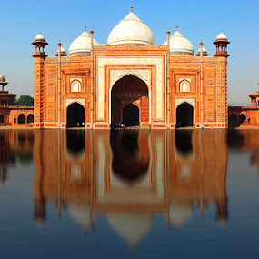 the reflection  by Suman Sengupta - Buildings & Architecture Architectural Detail ( water, reflection, india )