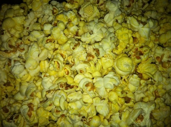 Popped Popcorn.... This time I used flavored microwave popcorn... usually I make a lot of air popped corn with no flavorings.