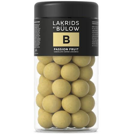 B – chokladöverdragen sötlakrits med passionsfrukt – Lakrids by Bülow
