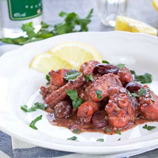 Greek Octopus with Ouzo, Fennel and Olives.