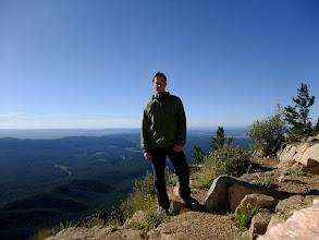 Photo: Me on the summit of Hermit's Peak.