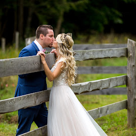 At the Farm by Robert Blair - Wedding Bride & Groom ( bride, groom, belleville, weddings, photographer )