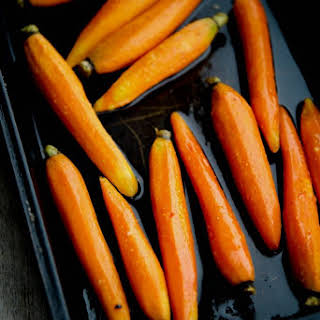 Maple Roasted Baby Carrots.