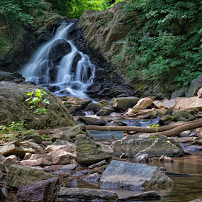 Waterfall by Valerie Dyer - Landscapes Waterscapes ( nature, waterfall, landscape )