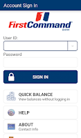 Screenshot of First Command Bank Mobile