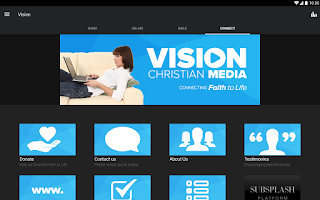 Screenshot of Vision Christian Media
