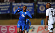 SuperSport United striker Evans Rusike celebrates after scoring in the 1-0 Absa Premiership away win against Bidvest Wits at Bidvest Stadium on Saturday August 18 2018.