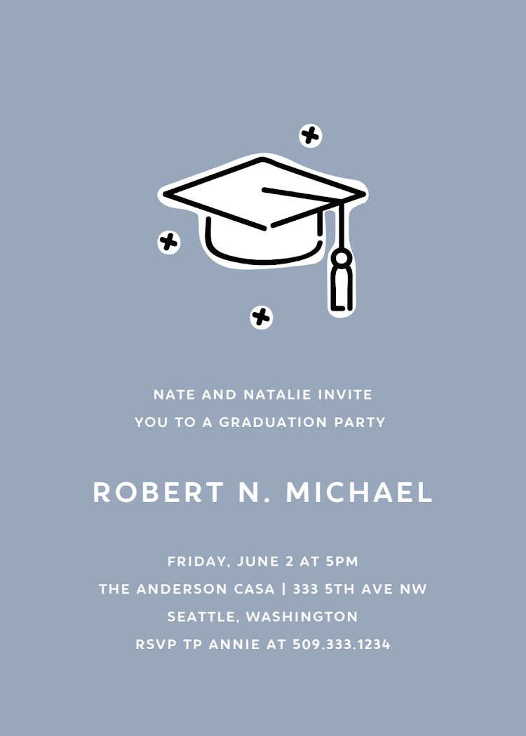 Robert's Graduation Party - Graduation Announcement Template