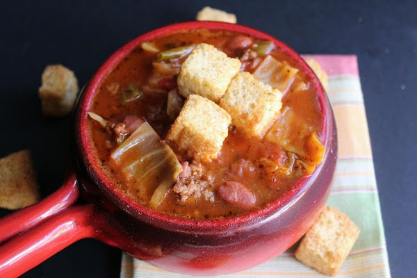 Shoney's Bean And Beef Cabbage Soup Recipe