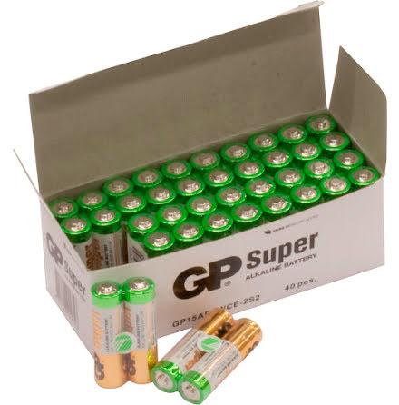 Batteri GP Super AA/LR6 40/fp