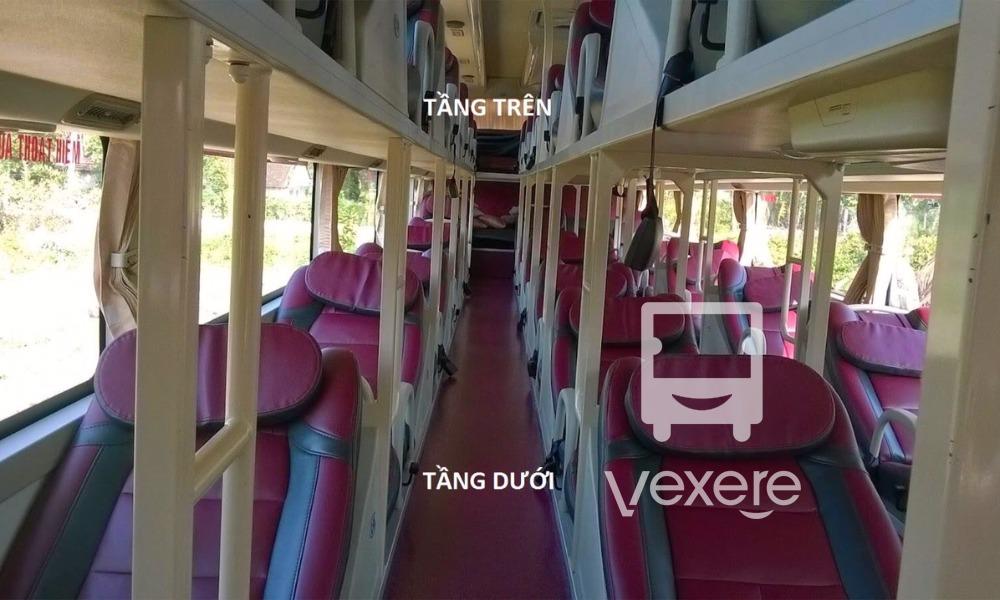 Nội thất xe Đồng Khởi đi Bến Tre từ Sài Gòn