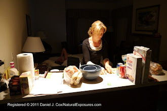 Photo: Tanya making lunch for our guests  in the early hours before we venture into the park for our Yellowstone Winter Photo tour.