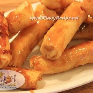 Turon Recipe or Banana Spring Rolls.