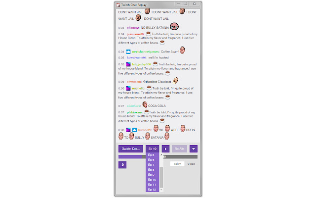 Twitch Chat Replay