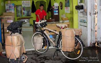 Photo: Bicycle packed for the train, Yogyakarta, Java, Indonesia