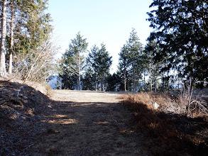 林道合流地点に到着(右へ)