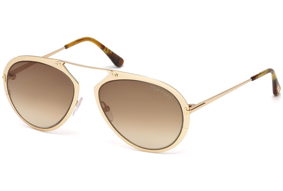 2d195108465aa Buy Tom Ford Dashel FT0508 C55 28F (shiny rose gold   gradient brown)  Sunglasses