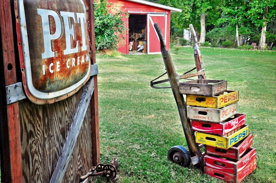 Delivery by Mary Bray - Artistic Objects Antiques ( advertising, barns, vintage signs. antiques, rural, vintage advertising )