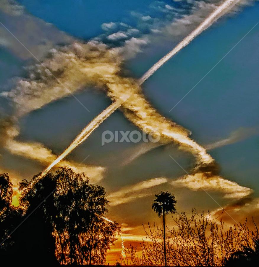 SunSet Chaos by Carlo McCoy - Digital Art Places ( real image, sunset, skies, summer,  )