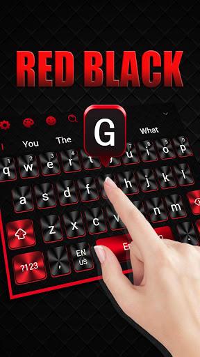 Cool Red Black Keyboard 10001002 screenshots 2
