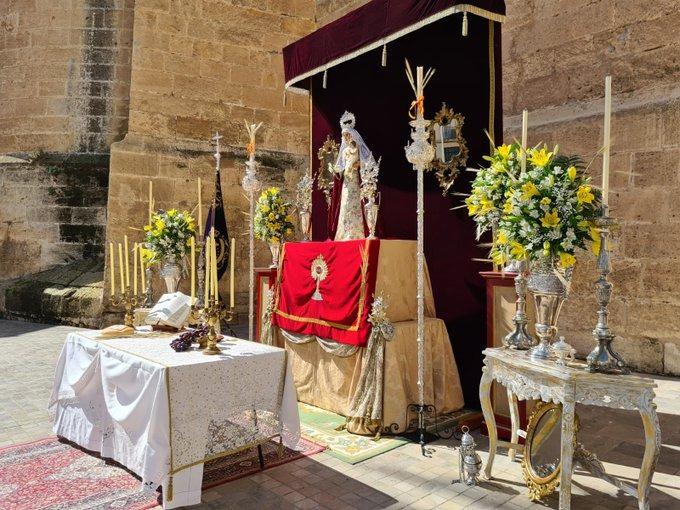 Detalle del altar de las Angustias, junto a la calle Cubo.