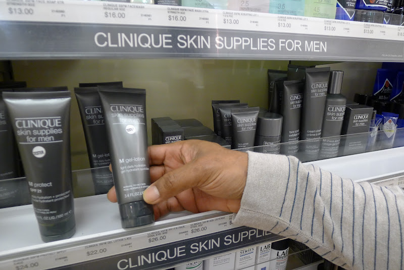 Photo: Here is a close up of one of the products on offer in the Clinique Skin supplies for men skin care line.