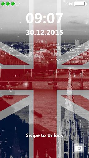 英國國旗 鎖屏界面