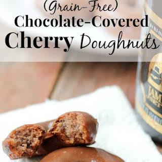 Grain-Free Chocolate Covered Cherry Doughnuts.