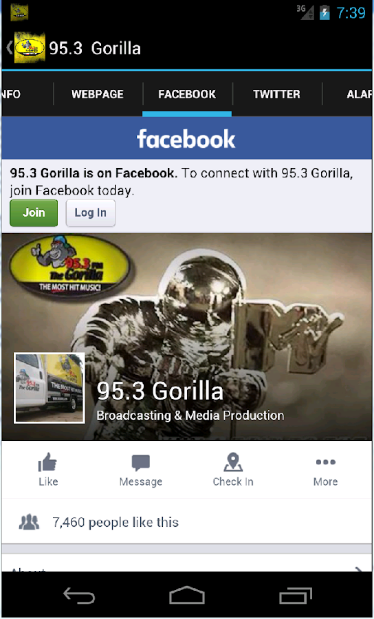 Gorilla 95.3- screenshot