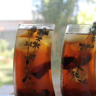 Iced Tea With Plums And Thyme.