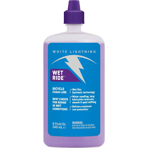 White Lightning Wet Ride Lube 8oz Drip
