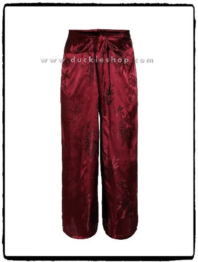 กางเกงแพรจีน กางเกงแพรแท้ กางเกงใส่สบาย