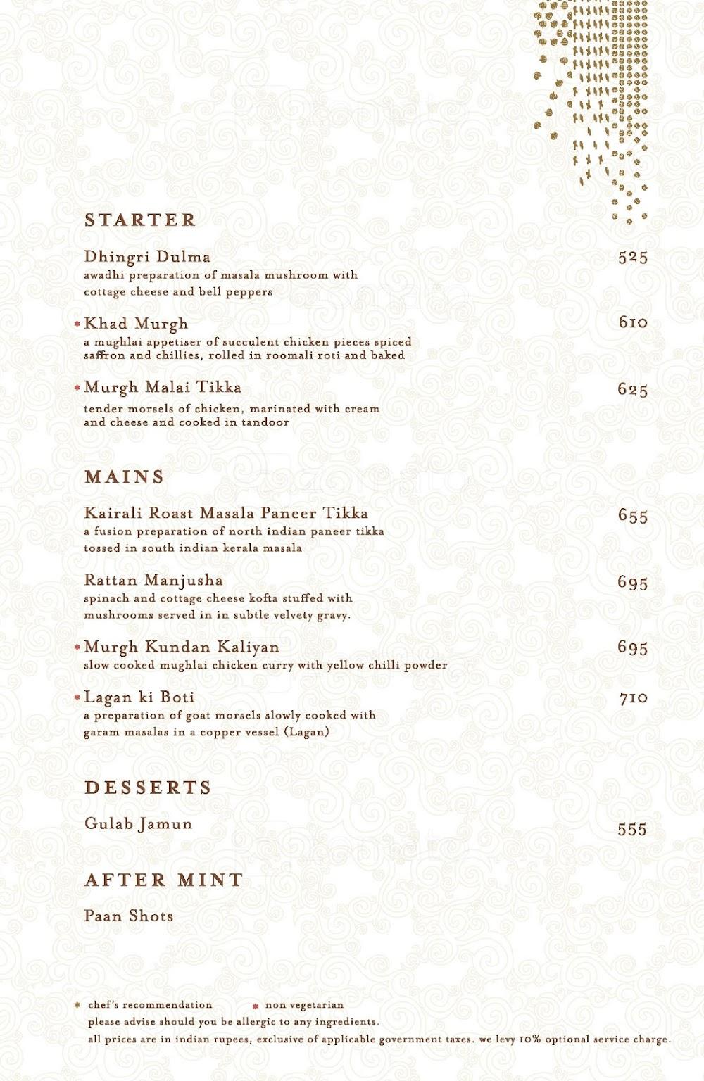 Masala Library menu 10