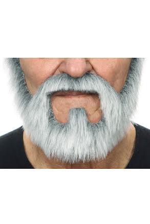 Skepparkrans med mustasch, grå