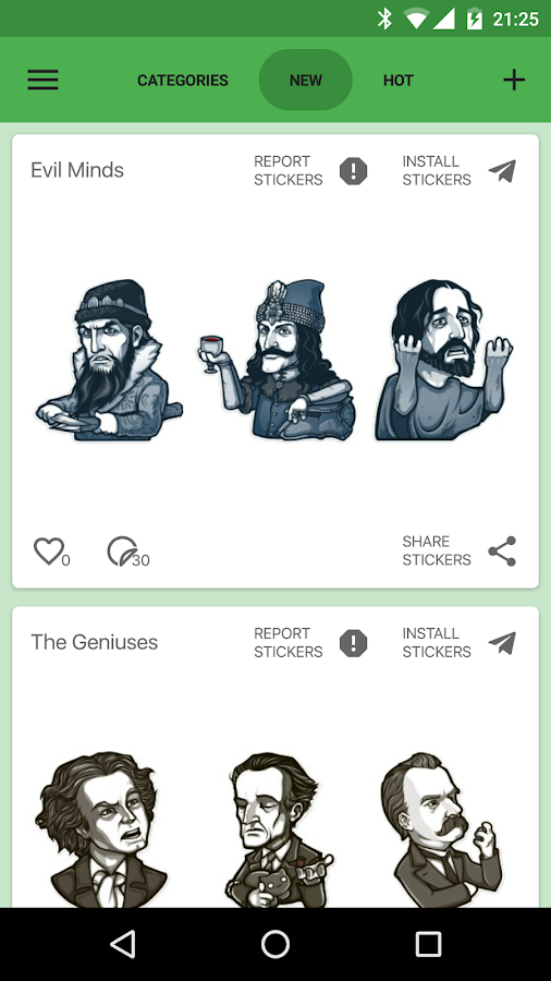 Catalog Stickers for Telegram- screenshot