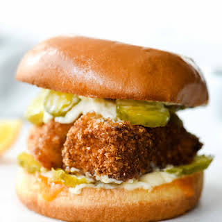Healthy-ish Fried Fish Sandwich.