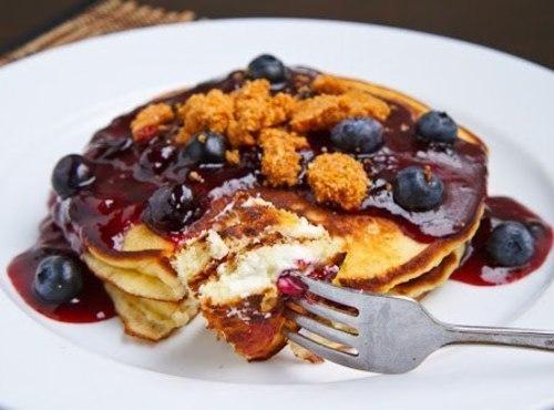 Blueberry Cheesecake Pancakes! Recipe