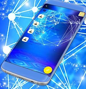 Modrá téma pro GO SMS - náhled