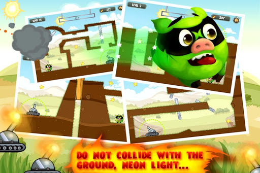 Fire Piggy -- hit the bad pig with bullet & rocket screenshot 1