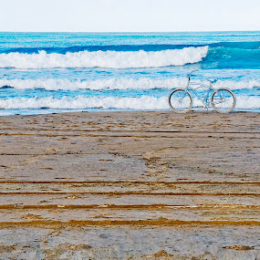 Beach Bike by Jeff Yarbrough - Landscapes Waterscapes