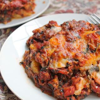 Turkey Spinach Polenta Lasagna