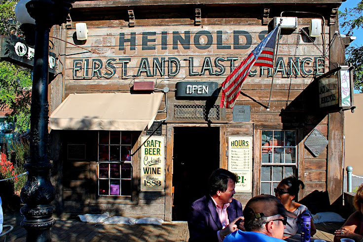 The historic facade of Heinold's.