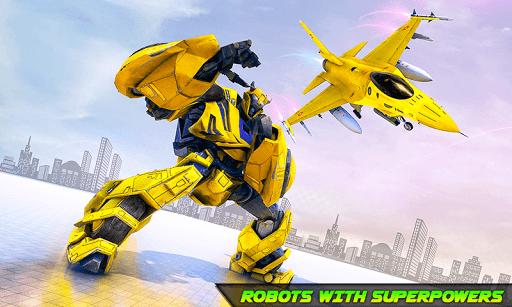 Air Jet Robot Transform : Robot Shooting Game screenshots 1