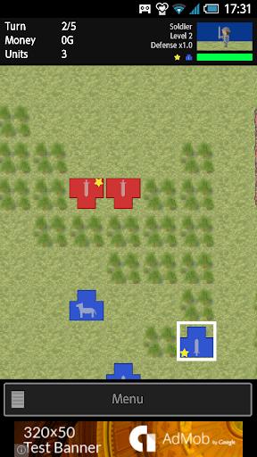 TBS War Game - Tactical land