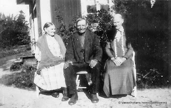 Photo: Stenkullen 1930 tre syskon Rydberg, Anna, Karl och Karolina